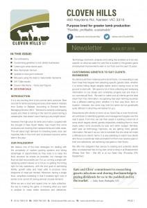 Newsletter – August 2018
