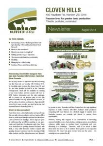 Newsletter – August 2014