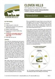 Newsletter – August 2015
